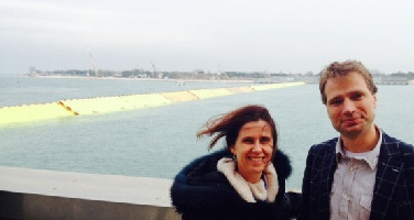 Bianca Peters and Bas Hofland of Deltares were invited to witness the closue of the Venice barrier.3023[1]