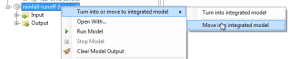 move to integrated model