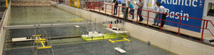 Measurements during modelling of the construction of the Venice flood barrier
