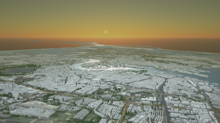 Rotterdam - Delft3D Flexible Mesh using 3D interactive modelling3-1366x768