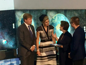 King Willem-Alexander launches new Deltares tool 'Smart Scanner for Water Resilient Cities' in Brisbane. Simone van Schijndel