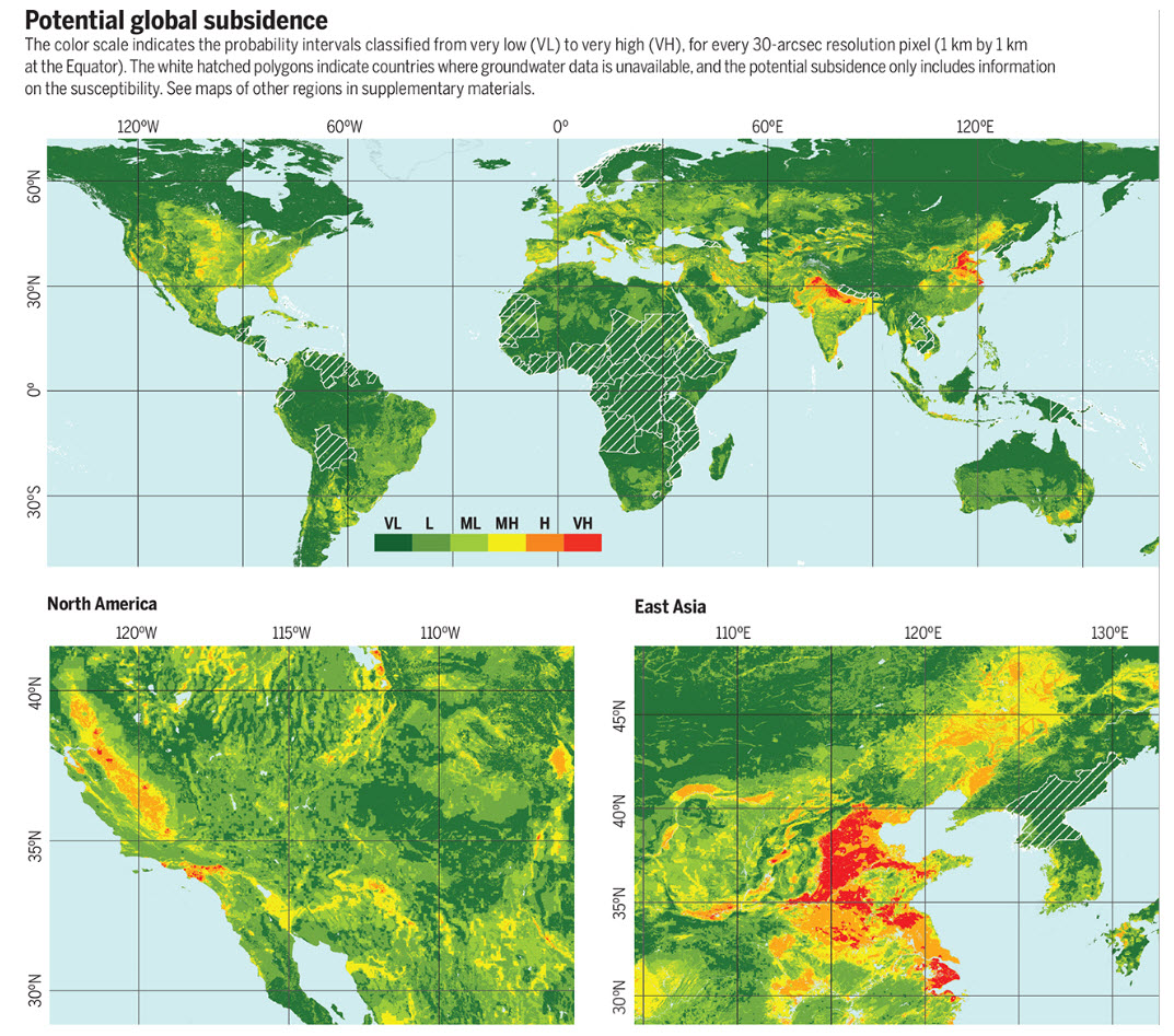 Potential global subsidence